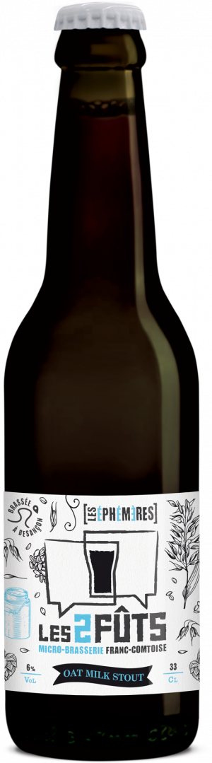 Bière 33cl Les2FÛTS Oat Milk Stout