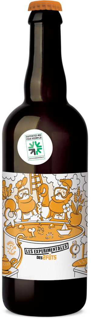 Bière 75cl Les2FÛTS HOPPY LAGER